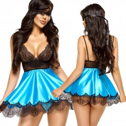 Eve chemise with mask...