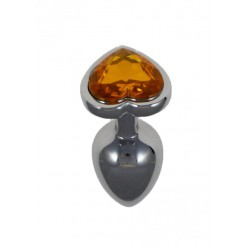 Diamond Plug Heart Orange
