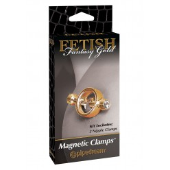 FF GOLD MAGNETIC NIPPLE CLAMPS