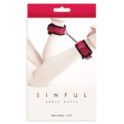 SINFUL ANKLE CUFFS PINK