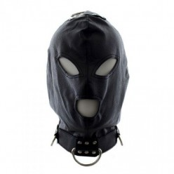 Bondage Hook Mask+Collar BLACK