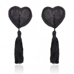 Heart Nipples Tassels BLACK