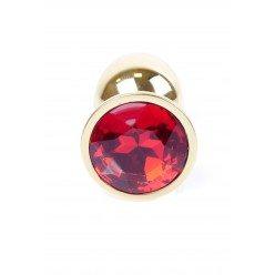 Plug-Jawellery Gold PLUG- Red