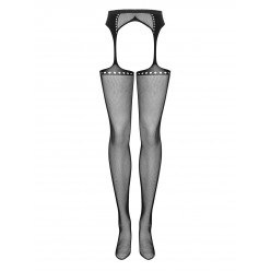 Garter stockings S314 czarny