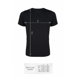 T-shirt men black