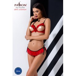Cherry Set With Open Bra Red
