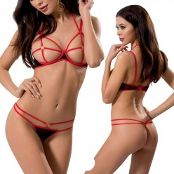 Hera Set With Open Bra Black